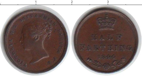 Картинка Монеты Великобритания 1/2 фартинга Медь 1844