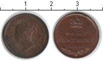 Изображение Монеты Великобритания 1/2 фартинга 1843 Медь XF Виктория.