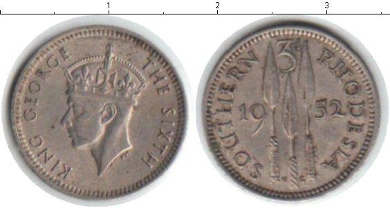 Картинка Монеты Родезия 3 пенса Медно-никель 1952