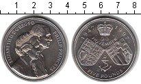 Изображение Монеты Великобритания 5 фунтов 1997 Медно-никель XF Золотая свадьба Елиз