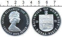 Изображение Монеты Гернси 25 пенсов 1978 Серебро Proof- Елизавета II