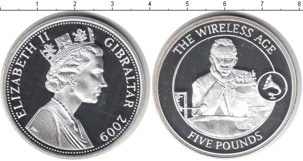 Картинка Монеты Гибралтар 5 фунтов Серебро 2009
