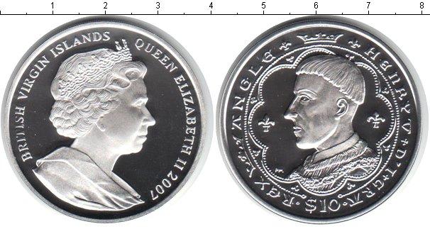 Картинка Монеты Виргинские острова 10 долларов Серебро 2007