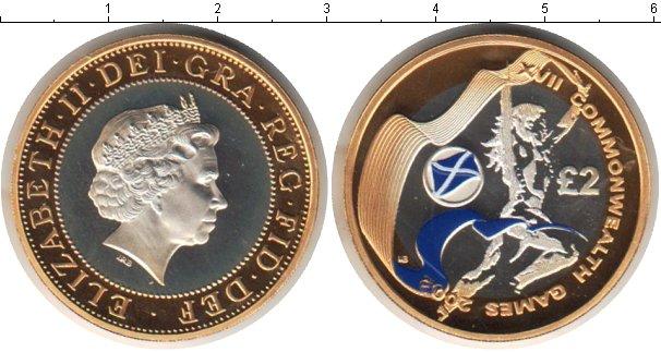 Картинка Монеты Великобритания 2 фунта Серебро 2002