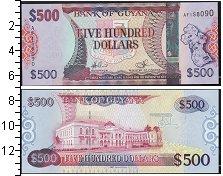 Изображение Банкноты Гайана 500 долларов 0  UNC
