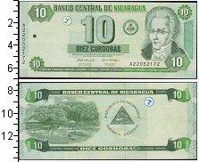 Изображение Боны Никарагуа 10 кордоб 0  UNC-