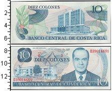 Изображение Боны Коста-Рика 10 колонес 0  UNC-