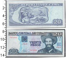 Изображение Банкноты Куба 20 песо 0  UNC-