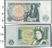 Изображение Банкноты Великобритания 1 фунт 0   Елизавета II. Исаак