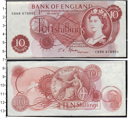 Картинка Банкноты Великобритания 10 шиллингов  0