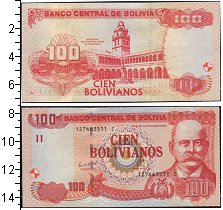 Изображение Банкноты Боливия 1000 боливиано 0  UNC-