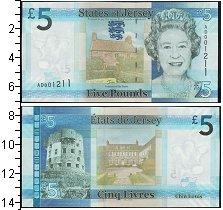 Изображение Боны Остров Джерси 5 фунтов 0  UNC-