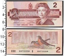 Изображение Боны Канада 2 доллара 1986  UNC- Елизавета II