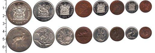 Изображение Наборы монет ЮАР ЮАР 1975 1975  XF В наборе 8 монет ном