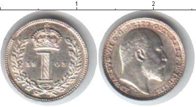 Картинка Монеты Великобритания 1 пенни Серебро 1908