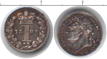 Картинка Монеты Великобритания 1 пенни Серебро 1829