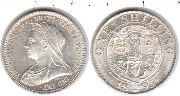 Картинка Монеты Великобритания 1 шиллинг Серебро 1893