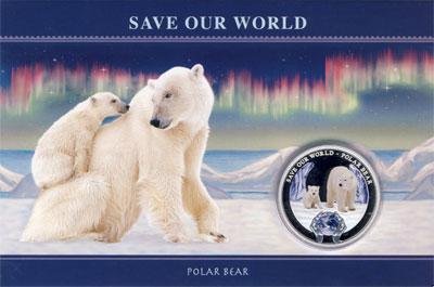 Изображение Подарочные монеты Острова Кука 1 доллар 2013 Серебро Proof Подарочная монета по