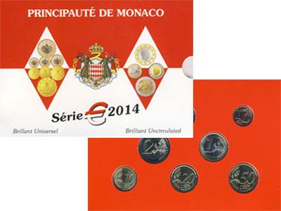 Изображение Подарочные монеты Монако Евронабор 2014 2014  UNC