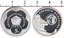 Изображение Мелочь Польша 5 злотых 2011 Серебро Proof `Польские Футбольные