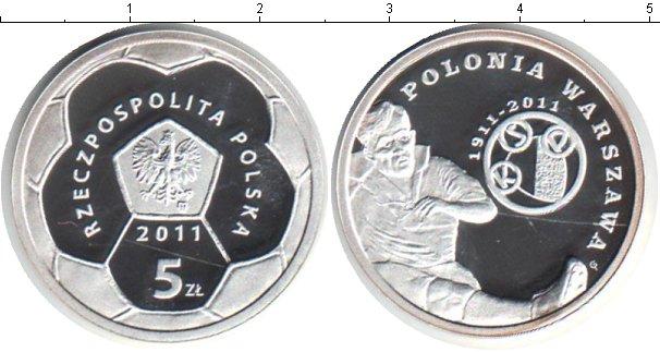 Картинка Мелочь Польша 5 злотых Серебро 2011