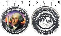 Изображение Монеты Либерия 5 долларов 2009 Посеребрение Proof- `Серия ``Президенты