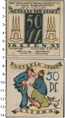 Изображение Банкноты Веймарская республика 50 пфеннигов 1921  XF