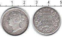 Изображение Монеты Нью-Брансуик 20 центов 1864 Серебро VF Виктория