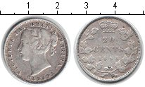 Изображение Монеты Канада 20 центов 1858 Серебро XF