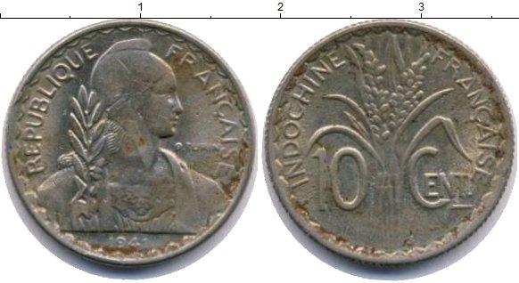 Картинка Монеты Индокитай 10 центов Медно-никель 1941