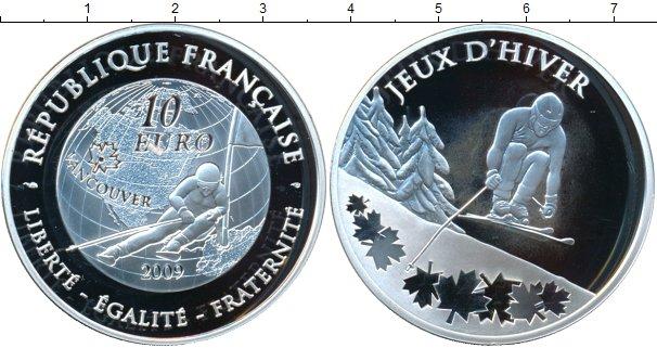 Картинка Монеты Франция 10 евро Серебро 2009