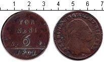 Изображение Монеты Сицилия 6 торнеси 1801 Медь XF Фердинанд IV
