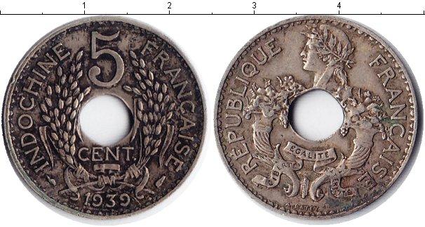 Картинка Монеты Индокитай 5 центов Медно-никель 1939