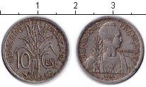 Изображение Мелочь Индокитай 10 центов 1939 Медно-никель XF- Французский протекто
