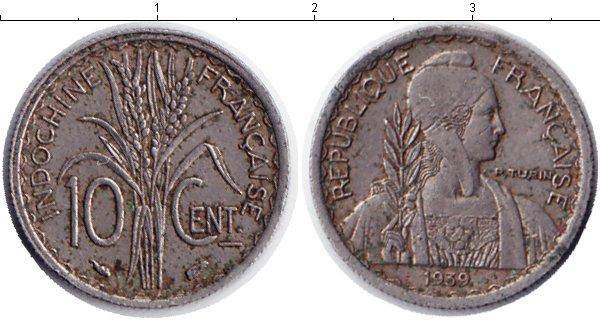 Картинка Мелочь Индокитай 10 центов Медно-никель 1939