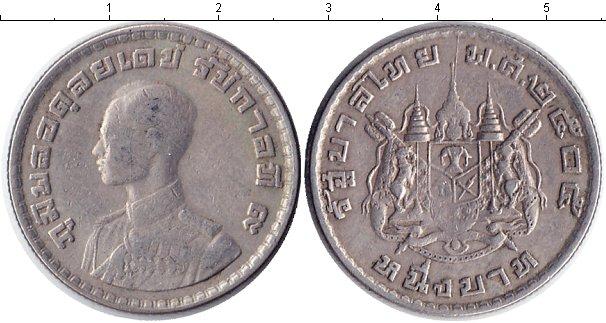Картинка Монеты Таиланд 1 бат Медно-никель 1962