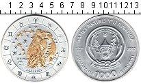 Изображение Монеты Руанда 1000 франков 2009 Серебро UNC Водолей.