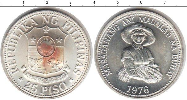 Картинка Монеты Филиппины 25 писо Серебро 1976