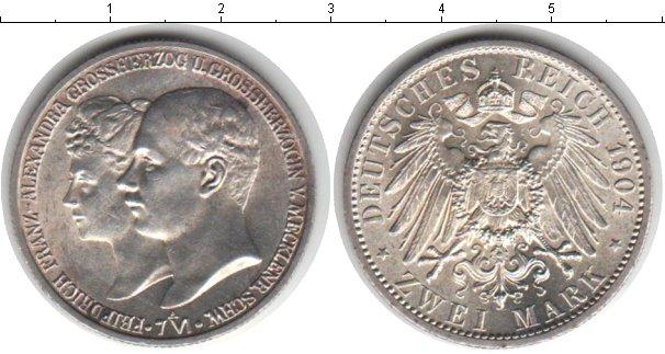 Картинка Монеты Мекленбург-Шверин 2 марки Серебро 1904