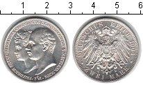 Изображение Монеты Мекленбург-Шверин 2 марки 1904 Серебро UNC- Фридрих Франц и Алек