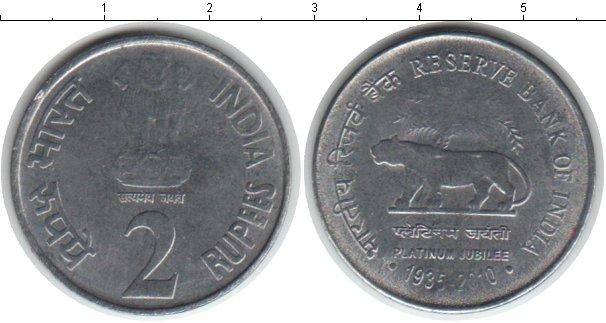 Картинка Монеты Индия 2 рупии Медно-никель 2010