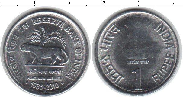 Картинка Монеты Индия 1 рупия Медно-никель 2010