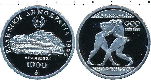 Картинка Монеты Греция 1.000 драхм Серебро 1996