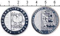 Изображение Монеты Польша 10 злотых 2007 Серебро Proof 125-летие со дня рож