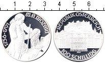 Изображение Монеты Австрия 100 шилингов 1991 Серебро Proof Вольфганг Амадей Моц