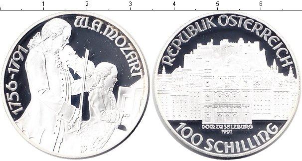 Картинка Монеты Австрия 100 шилингов Серебро 1991