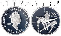 Изображение Монеты Канада 15 долларов 1992 Серебро Proof 100-летие олимпийско
