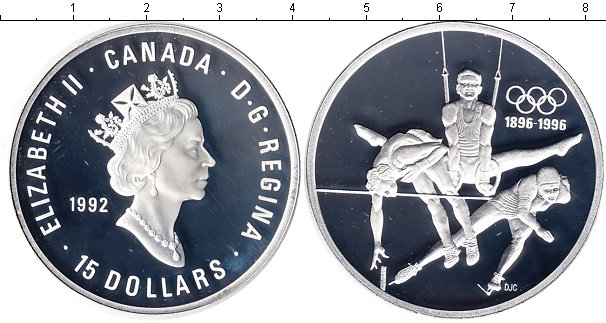 Картинка Монеты Канада 15 долларов Серебро 1992