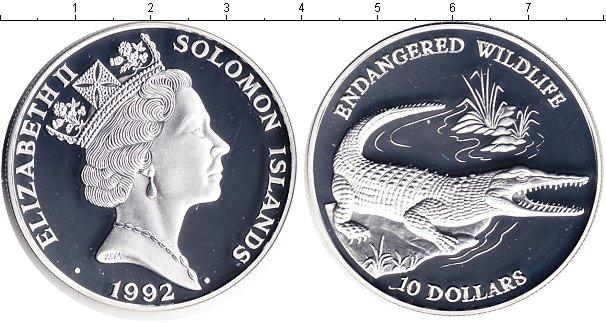 Картинка Монеты Соломоновы острова 10 долларов Серебро 1992