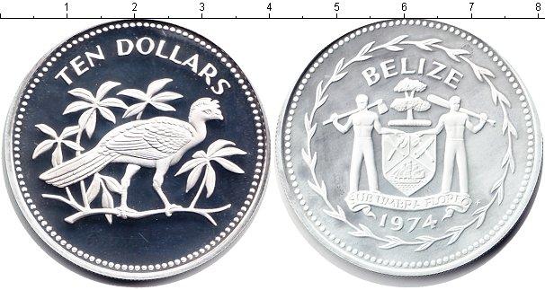 Картинка Монеты Белиз 10 долларов Серебро 1974